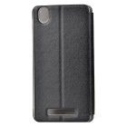 Protective PC + PU Leather Case for Blackview A8 - Black