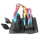 3-Gang 12V/24V Rocker Switch Panel with Blue LED