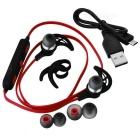 SQ-U6 Stereo Bluetooth Sport In-ear Headset - Svart + Röd