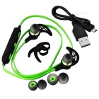SQ-U6 Stereo Bluetooth Sport In-ear Headset - Black + Green