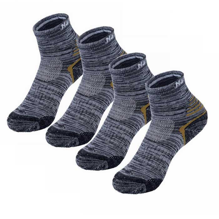 NatureHike Quick Drying Hygroscopic Socks for Men - Black (2 Pairs)