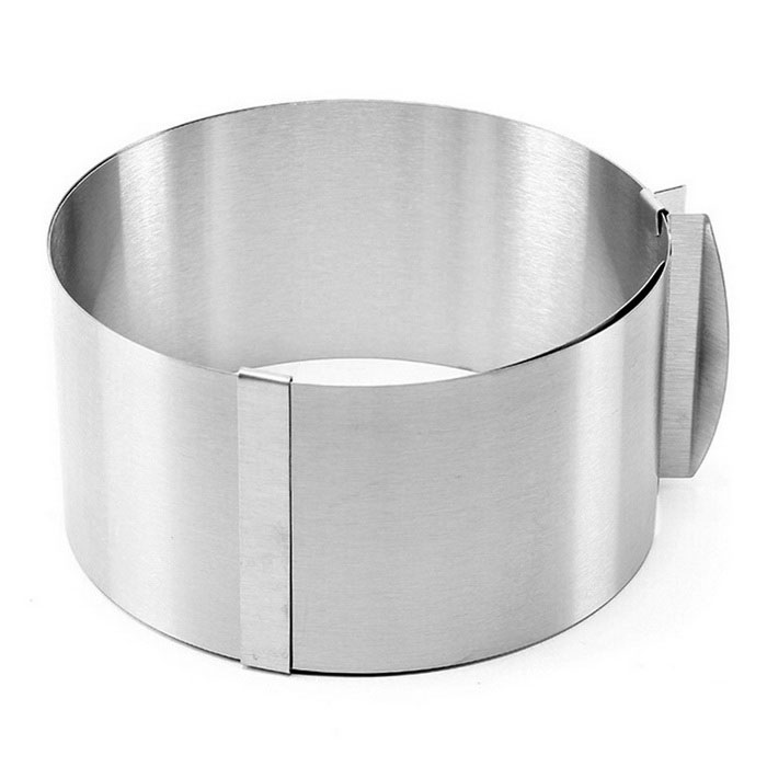Stainless Steel Cake Mould - Bright Silvery Grey (1000ml)