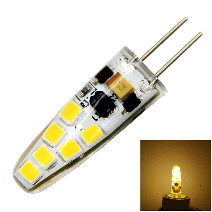 Meshion G4 Dimmable 2W 200lm 12-2835SMD LED Warm White Light Bulb Lamp