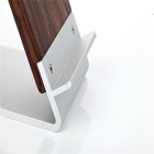 Qi Wireless Inductive Charger Holder for Phones - Silver + Brown