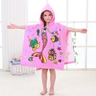 Creative 3D Printing Mermaid Fiber Cloak Children Cloak Towel - Pink