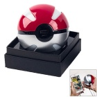 Pokeball Shape 10000mAh USB Mobile Power Bank - Red + Silver