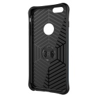 TPU + PC volta caso w / stand para iPhone 6 plus / 6S plus - preto