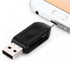 USB 2.0 TF / SD Card Reader - Black