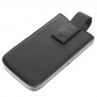 Protective PU Leather Case for iPhone 4 (Random Color)