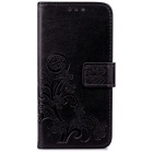 Lucky Clover Embossed Pattern Case for Samsung Galaxy S7 Edge - Black