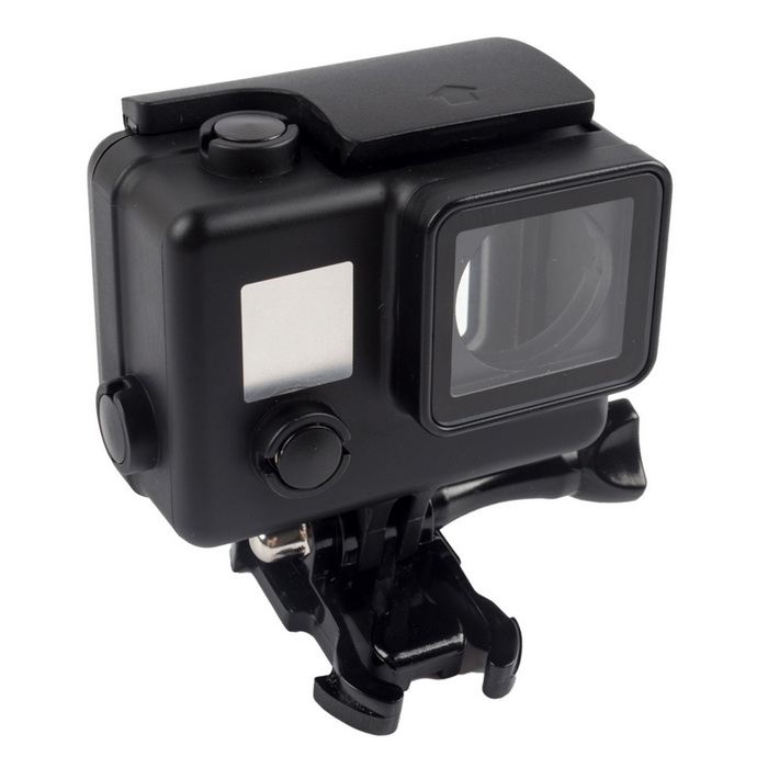 Touch Screen Waterproof Housing Case for Gopro 4 - Black + Transparent