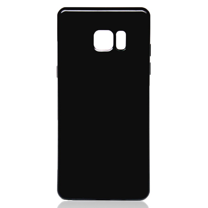 Candy Color TPU Soft Rubber Cover for Samsung Galaxy Note 7 - Black