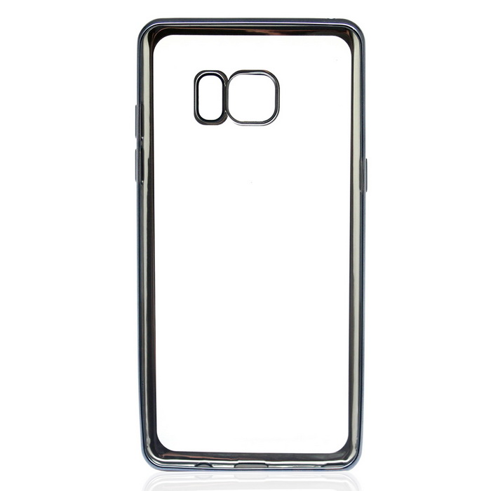 Electroplating TPU Case for Samsung Galaxy NOTE 7 - Light Black