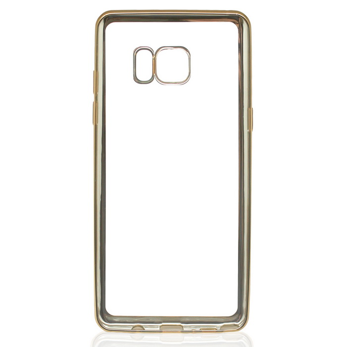 Electroplating TPU Case for Samsung Galaxy NOTE 7 - Gold + Transparent