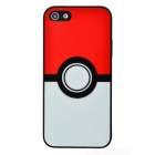 Poke Ball Style Silicone Case for IPHONE 5 / 5S / SE - White + Red