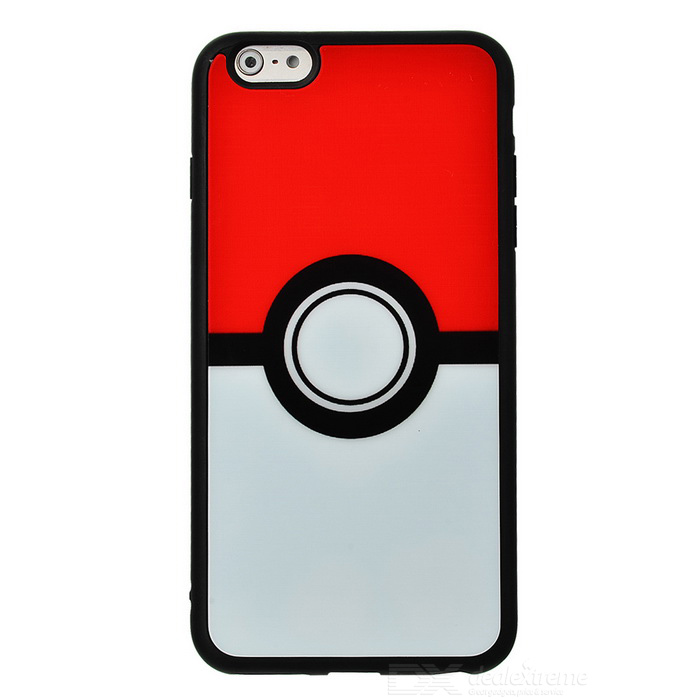 Poke Ball Pattern TPU Case for IPHONE 6 Plus / 6S Plus - White + RedSilicone Cases<br>Form ColorWhite + Black + Multi-ColoredModelN/AQuantity1 DX.PCM.Model.AttributeModel.UnitMaterialTPU + PCCompatible ModelsIPHONE 6S PLUS,IPHONE 6 PLUSDesignCartoonStyleBack CasesPacking List1 * Case<br>