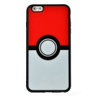 Poke Ball Pattern TPU Case for IPHONE 6 Plus / 6S Plus - White + Red