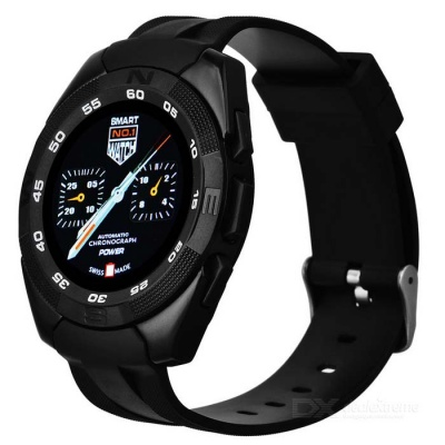 NO.1 G5 MT2502 240*240 Bluetooth 4.0 Heart Rate Smart Watch - Black