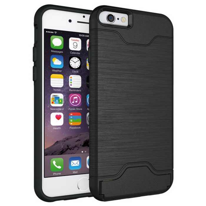 shock proof back case w holder and slot for iphone 6 6s