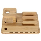 Universal Real Bamboo Wood Charging Stand / Holder - Brown