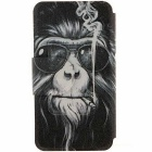SZKINSTON Smoking Monkey HD Pattern PU Leather Case for IPHONE 7