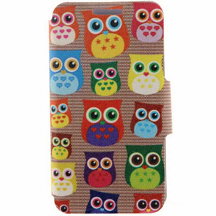 SZKINSTON Cute Owl HD Pattern PU Leather Case for IPHONE 7 / 8 - Brown
