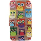 SZKINSTON Cute Owl HD Pattern PU Leather Case for IPHONE 7 - Brown