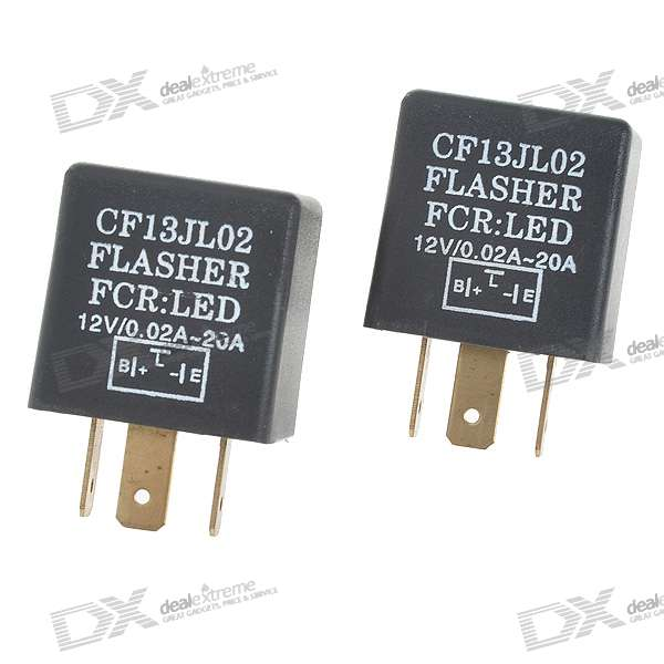 Car LED Indicator Flasher Relay (Pair)Other Gadgets<br>Form  ColorBlackPacking List<br>