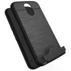 Shock-proof Back Case w/ Holder and Slot for MOTO G4/ G4 Plus - Black