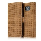 PC + PU Flip Wallet Cover Case for Samsung Galaxy Note 7 - Tawny