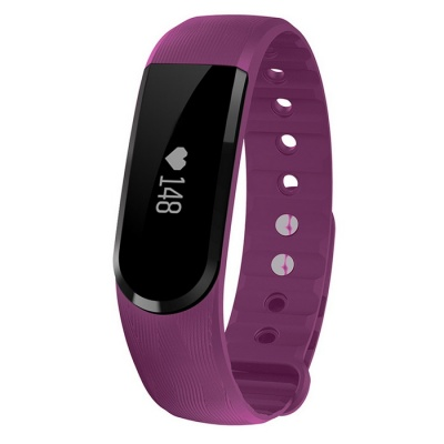 Eastor ID101 Bluetooth Smart Bracelet w/ Heart Rate Monitor - Purple