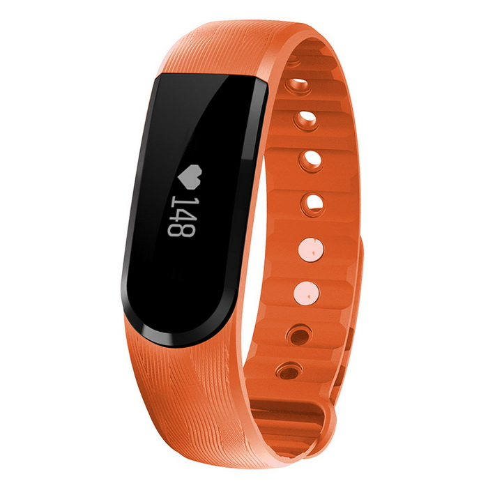 Eastor ID101 Bluetooth Smart Bracelet w/ Heart Rate Monitor - OrangeSmart Bracelets<br>Form  ColorOrangeModelID101Quantity1 DX.PCM.Model.AttributeModel.UnitMaterialTPE &amp; PCShade Of ColorOrangeWater-proofOthers,IPX7Bluetooth VersionBluetooth V4.0Touch Screen TypeOthers,OLEDCompatible OSIOS 7.1 &amp; above / Android 4.4 &amp; above, with Bluetooth 4.0Battery Capacity60 DX.PCM.Model.AttributeModel.UnitBattery TypeLi-polymer batteryStandby Time5-10 DX.PCM.Model.AttributeModel.UnitOther FeaturesScreen: 0.91 OLED touch screenPacking List1 x Smart Bracelet1 x Chinese and English Manual<br>