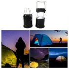 CL-1-BK 6 LED Camping Lamp Solar Recharger for Camping - Black