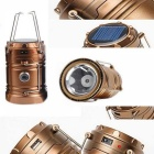CL-2-GD 7 LED Camping Lamp with Flashlight Solar Recharger for Camping