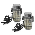 Water Resistant Windproof Butane Lighters - Translucent Black (2PCS)