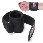 Sports Velcro Wrist Elastic Brace Support Wrap Strap Band - Black