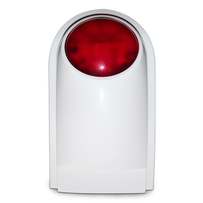 Wireless Strobe Siren Flash Alarm Siren Alarm System - White + Red
