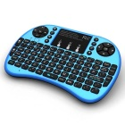 Rii 2.4RT-MWK08+ GHz Wireless 92-Key Keyboard Air Mouse - Blue