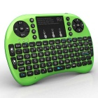 Rii 2.4RT-MWK08+ GHz Wireless 92-Key Keyboard Air Mouse - Green