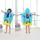 Creative 3D Printing Diving Boy Child Hooded Cape Cloak Fiber Towel
