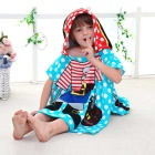 Creative 3D Printing Fiber Children Hooded Towel