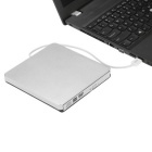 USB 3.0 Portable Ultra-thin External CD-RW DVD-RW Disc Player - Silver