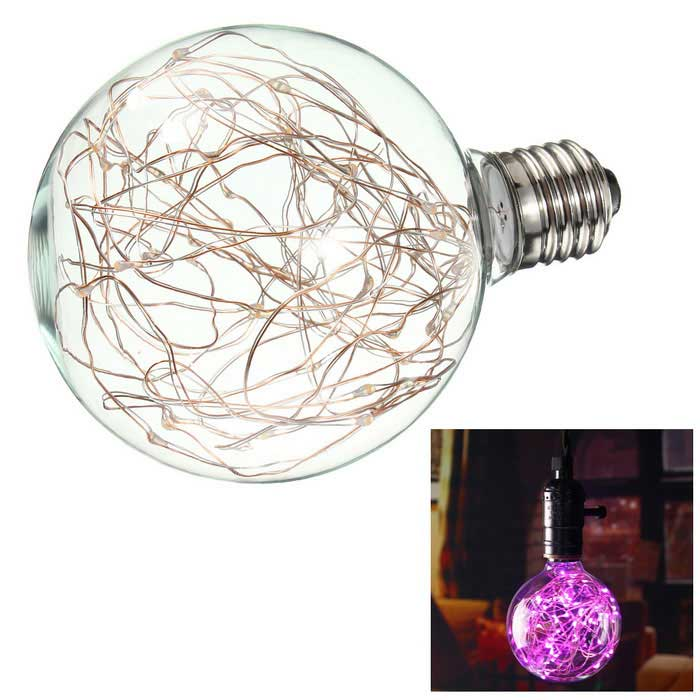 HESSION Vintage Globe Edison Light Bulb Pink LED Starry String Lights - Free Shipping - DealExtreme