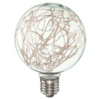 HESSION Vintage Globe Edison Light Bulb Pink LED Starry String Lights