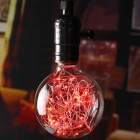 E27 Vintage Globe Edison Light Bulb LED Starry String Lights Red Light