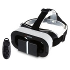"VR Virtual Reality 3D Glasses + Bluetooth Controller para 4.0 ~ 6.0"" Smartphone - Branco + Preto"