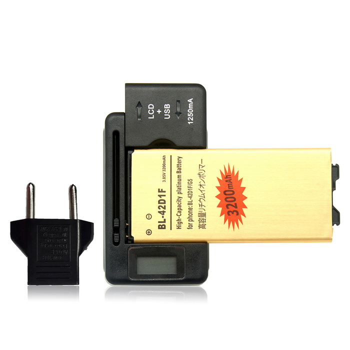 Replacement 3.85V Li-ion Battery + Charger + EU Plug Adapter for LG G5