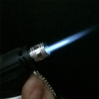 Outdoor Bend Butane Jet Lighter w/ Lock - Silver + Black