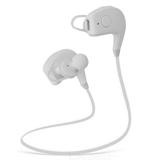 Wireless Stereo In-ear Bluetooth V4.1 Sports Earphone w/ Mic. - White
