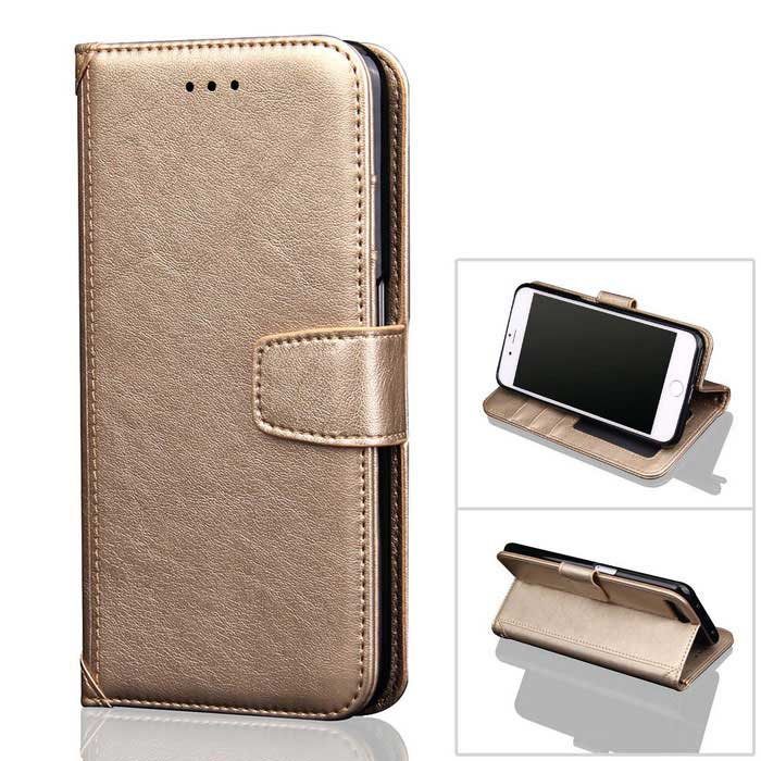 PU Leather + TPU Case for IPHONE 7 Plus - Golden